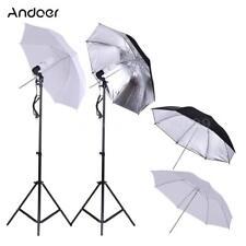 Photo Studio Video Light Continuous Photography Umbrella Lighting Stand Set W6M4