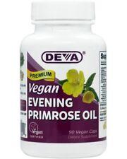 Deva Vegan Evening Primrose Oil - 90 Caps - EXP 2/20