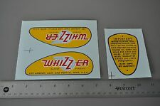 Whizzer Tank Decal Set. Early Style. 1946-49. WATER SLIDE Fox Grips