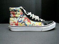 Vans Disney Princess Womens Size 7.5 Mens 6 Canvas Sneakers Shoes Hi Tops