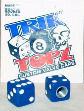 Trick Top Schrader Valve Caps / Blue Dice NEW!