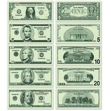 Casino Play Money 20 of each $1 $5 $10 $20 $100 Vegas Gambling Party Accessory