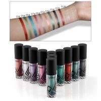 Waterproof Shimmer Eyeshadow Glitter Liquid Eyeliner Colorful Eye Liner 10 Color