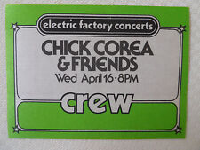 Chick Corea & Friends 1970's - CREW pass - Tower Theater Upper Darby PA April 16