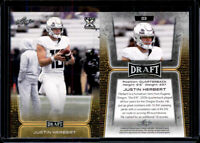 2020 JUSTIN HERBERT - LEAF DRAFT QUATERBACK GOLD ROOKIE CARD OREGON DUCKS!