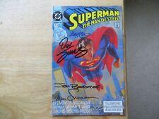 1991 SUPERMAN THE MAN OF STEEL #1 SIGNED 4X SIMONSON, MCLEOD, JURGENS, BOGDANOVE
