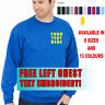 New Embroidered Personalised Sweatshirt, Highest Quality, Cheapest Uneek UC203