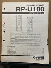 Original Service Manual for the Yamaha RP-U100 Personal Receiver