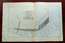 1892 Map of Louisville Kentucky Improving Falls of Ohio River