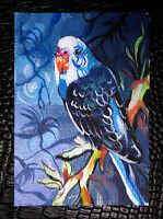 "Original art by Bastet ""Parrot"" OOAK hand painted ACEO"
