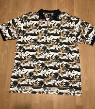 Tabasco Hot Sauce Men's Golf Polo Shirt Floral Graphic Size XXL