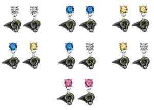 Los Angeles Rams Football Crystal Bling Earrings Stud Post Dangle - Pick Colors
