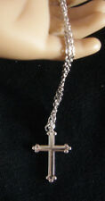 "Silver Tone Cross Necklace made for 18"" American Girl Doll Clothes"