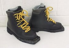 Asolo New Snowfield Padded Black Leather 3-Pin Nordic Norm Alpine Boots 5/36
