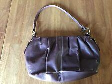 Chaps Womens Brown Satchel Style Designer Handbag Purse 7.5 x 15 x 3
