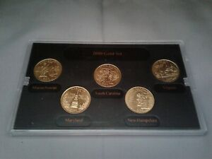 2000 State Quarters Denver Mint Gold plated Uncirculated Coin Set