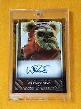 Topps Star Wars Rise of Skywalker Series 2 Warwick Davis Gold Autograph #1/10