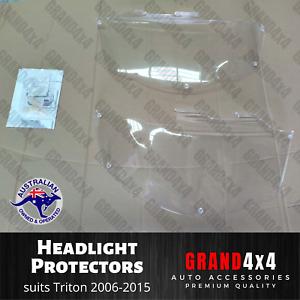 Headlight Headlamp Protectors for Mitsubishi Triton MN/ML 2006 - 2015 Lamp Cover