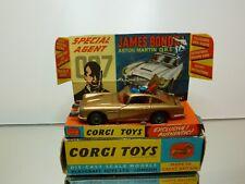 CORGI TOYS 261 ASTON MARTIN DB5 JAMES BOND 007 - GOLD 1:43 - VERY GOOD IN BOX