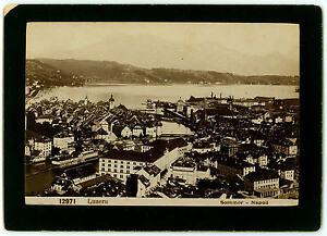 LUZERN Schweiz - Super Foto auf Karton um 1890, PHOTOGRAPH G. SOMMER - NAPOLI