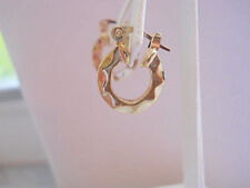 14k Gold Filled Small Scallop Hoop Earrings Item #A162