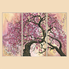 DIY bead embroidery kit Japanese Cherry Tree triptych gift Idea beadwork
