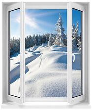 Sticker fenêtre paysage montagne 50x60cm réf F511
