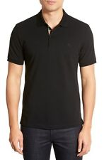 NWOT $175+  BURBERRY Brit Oxford Short Sleeve Polo Black Sz Large