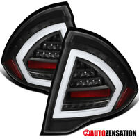 For Ford 2010-2012 Fusion Black Clear Full LED Tail Lights Lamps DRL Tube Bar