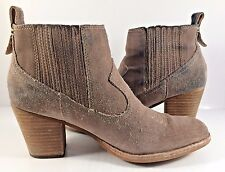 Dolce Vita Beige Suede Pull On Ankle Booties Womens Size US 7,5M
