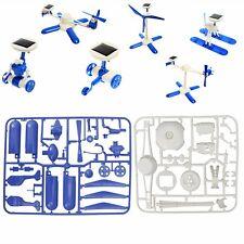 6 IN 1 Solar Educational Robots Plane Kit DIY Children Kids Creative Funny Toy
