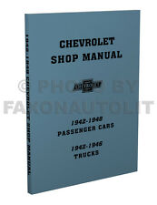 Chevy Car Shop Manual 1942 1946 1947 1948 Chevrolet Service Repair Book