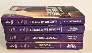 Lot of 4 Harlequin Intrigue Romance Novels ALL CURRENT YEAR 2021
