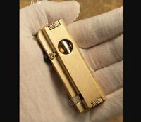 Vintage Handmade lighter Retro Brass oil lighter pipe cigarette gasoline lighter
