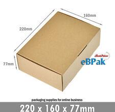 20x Mailing Box -Brown Diecut 220x160x77mm BX1 B1 A5 Cardboard Shipping Carton