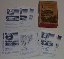 Kartenspiel, Quartett, Hausser - Rennen Rennfahrer Rekorde, komplett ca. 1940
