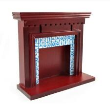 Melody Jane Dollhouse Victorian Mahogany Delft Tile Fireplace 1 12 Scale