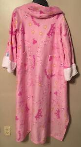Snuggie Soft Fleece Wearable Blanket w/ Sleeves For Kids Pink Princess Crown