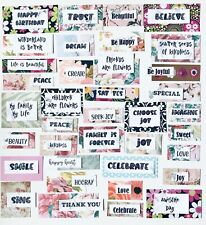 Words & Quotes for Scrapbook Pages , Junk Journals, Greeting Cards, 75 Piece Kit