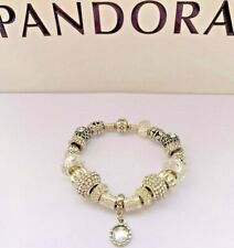 Genuine Pandora Silver Charm Bracelet With mixed charms, 19cm CLEAR #A/17