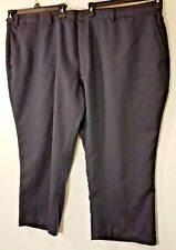 Habands Fit Forever Mens Dress Pants 58XS Navy Pinstriped Trouser Stretch waist