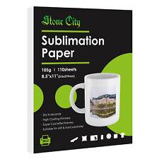 110 Sheets 8.5x11 Dye Sublimation Heat Transfer Paper Cotton Mugs Epson Sawgrass