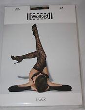 Wolford ~ TIGER ~ stay up stockings BNWT ~ Medium UK 14/16 nude/black