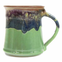 Clay In Motion Handmade Ceramic Medium Mug Coffee Cup 16 oz - Mountain Meadows