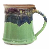 Clay In Motion Handmade Ceramic Medium Mug Coffee Cup 16 oz - Mountain Meadows