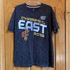 Men's NBA Locker Room Fanatics East Champs 2018 Cleveland Cavs Cavaliers Shirt L