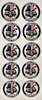 America Strong Essential Worker Hardhat Sticker 10 Pack.