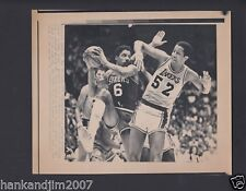 Julius Erving vs Lakers 1983 NBA Finals Small Vintage A/P Laser Wire Photo