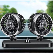 Rotatable Dual Fan Car Interior Air Cooling Fan Summer Auto Dashboard Cooler UK