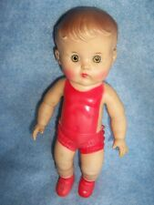 1956 The Sun Rubber Co. Non-Squeaky Toy- 10� Doll (Red)